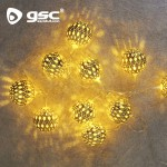 LED-Lichterkette mit Goldkugeln Ref. 5204456