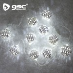 LED-Lichterkette mit Silberkugeln Ref. 5204457