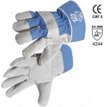 Handschuhe aus leder und leinwand