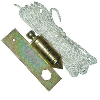 Senklot mit Blechnuss und Seil