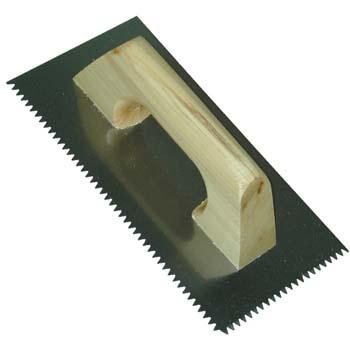 Glättkelle  - Gezahnt mit Holzgriff