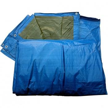 Polyethylen 90 gr. Abdeckplane zweifarbig Blau/Grün