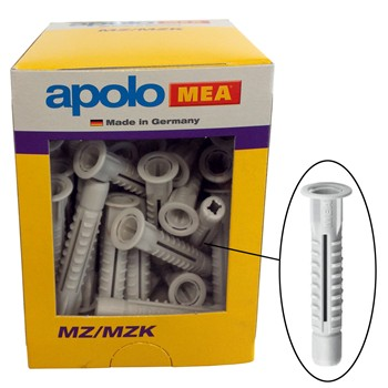 Kunststoff-Mehrzweckdübel mit Krage Mod. MZK in Schachtel