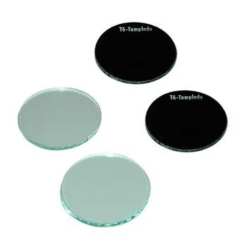 Rundes gehärtetes Ersatz-Schweißerschutzglas 50 mm Durchmesser