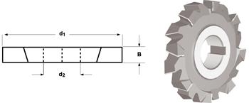 D200 - Scheibenfräser, kreuzverzahnt