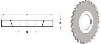 D763 - Scheibenfräser, kreuzverzahnt