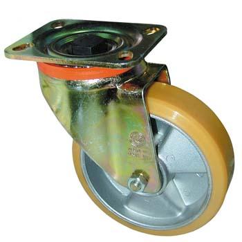 Polyurethan lenkrolle mit platte und aluminiumker