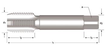 E243 - PG  Hand-/Maschinen-Gewindebohrer, geradegenutet
