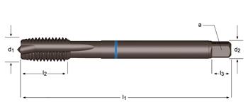 E384 - MF Maschinen-Gewindebohrer, geradegenutet mit Schälanschnitt , Blauring Shark