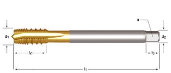 E423 - M  Maschinen-Gewindebohrer, ausgesetzte Zähne, geradegenutet mit Schälanschnitt