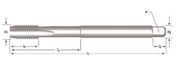 E600 - M  Maschinen-Gewindebohrer, extra lang, geradegenutet