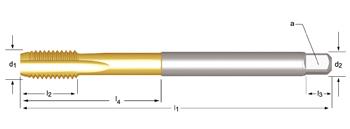 E610 - M  Maschinen-Gewindebohrer, extra lang, geradegenutet