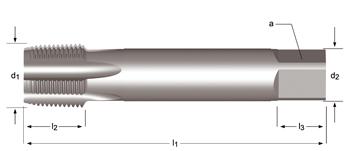 E714 - NPT  Maschinen-Gewindebohrer, geradegenutet