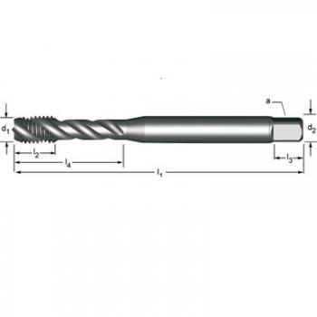 E783 - M  Maschinen-Gewindebohrer, Rechtsgedrallte Nuten 45°