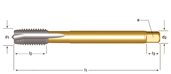 EP10 - MF  Maschinen-Gewindebohrer, Geradegenutet mit Schälanschnitt