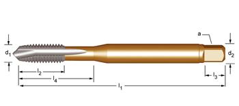 EP20 - UNC  Maschinen-Gewindebohrer, geradegenutet mit Schälanschnitt