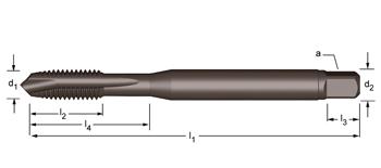 EP21 - UNC  Maschinen-Gewindebohrer, geradegenutet mit Schälanschnitt