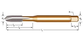 EP30 - UNF  Maschinen-Gewindebohrer, geradegenutet mit Schälanschnitt