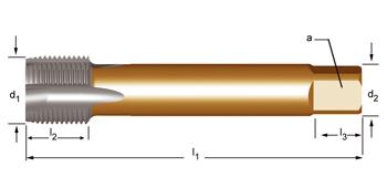 EP40 - G(BSP)  Maschinen-Gewindebohrer, geradegenutet mit Schälanschnitt