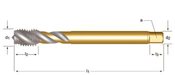 EX10 - MF  Maschinen-Gewindebohrer, Rechtsgedrallte Nuten 45°