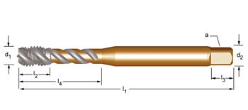 EX20 - UNC  Maschinen-Gewindebohrer, rechtsgedrallte Nuten 45°