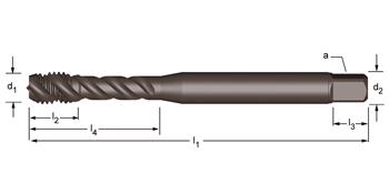 EX21 - UNC  Maschinen-Gewindebohrer, rechtsgedrallte Nuten 45°