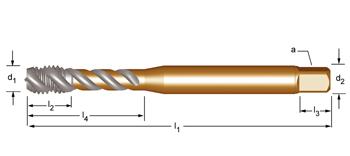 EX30 - UNF  Maschinen-Gewindebohrer, rechtsgedrallte Nuten 45°
