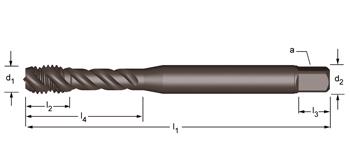 EX31 - UNF  Maschinen-Gewindebohrer, rechtsgedrallte Nuten 45°