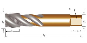 EX40 - G(BSP)  Maschinen-Gewindebohrer, rechtsgedrallte Nuten 45°