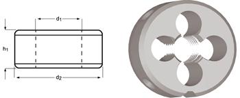 F100 - M Schneideisen, Schälanschnitt, geläppt