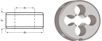 F110 - MF Schneideisen, Schälanschnitt, geläppt