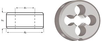 F130 - UNF Schneideisen, Schälanschnitt, geläppt
