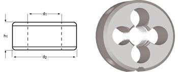 F180 - NPT Schneideisen, Schälanschnitt, geläppt