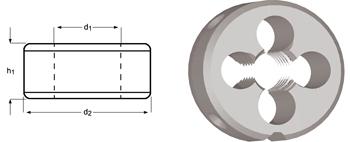 F201 - M Schneideisen, Schälanschnitt, geläppt