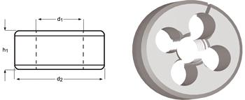 F330 - UNF Schneideisen - geschlitzt, verstellbar