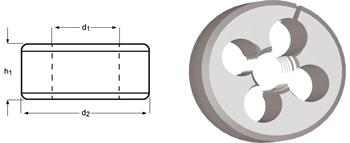 F370 - G(BSP) Schneideisen - geschlitzt, verstellbar