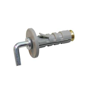 Kunststoff-Dübel mit Metall-Spreizkonus und Hakeschraube