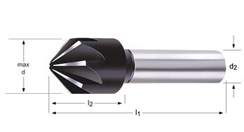 G132 - Kegelsenker 90°, spitz auslaufend