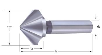 G400 - Kegelsenker  fur Hochgenauigkeitsfutter - 90°
