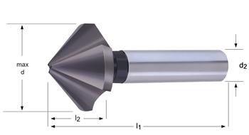 G560 - Kegelsenker 90°, spitz auslaufend