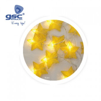 LED-Lichterkette mit Goldsterne Ref. 5204471