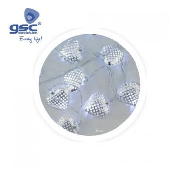 LED-Lichterkette mit Silberherzen Ref. 5204472