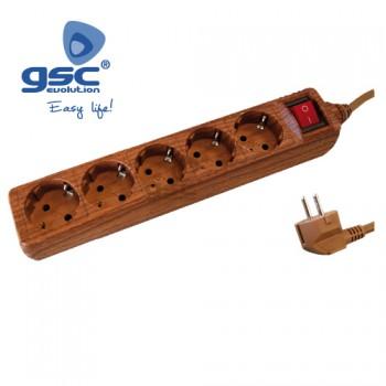 5-fach Steckerleiste mit Schalter Ref. 0001063