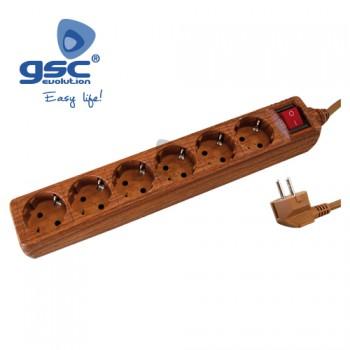 6-fach Steckerleiste mit Schalter Ref. 0001064