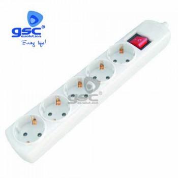 5-fach Steckerleiste mit Schalter Ref. 0801875