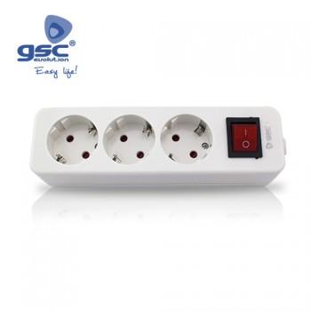 3-fach Steckerleiste mit Schalter Ref. 0800276