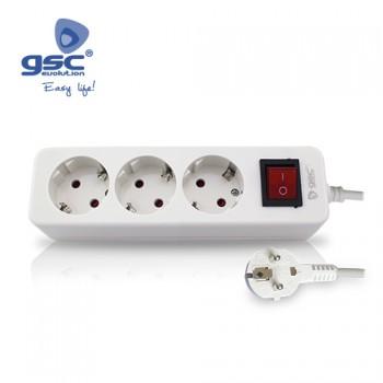 3-fach Steckerleiste mit Schalter Ref. 0800211-0800874