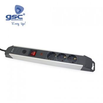 3-fach Aluminium Steckerleiste Ref. 0801084
