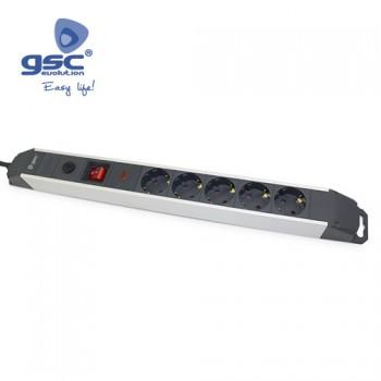 5-fach Aluminium Steckerleiste Ref. 0801086