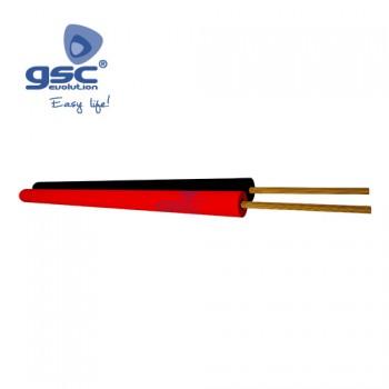 Polarisiertes Rot/Schwarz Parallelkabel (Rolle 100M) Ref. 3902904-3902905-3902906